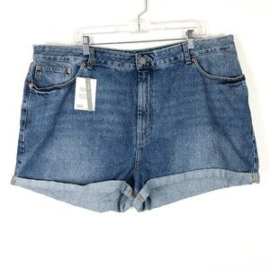 ASOS Shorts - NWT ASOS Denim Rolled High Waisted Mom Jean Shorts